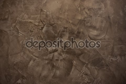 Brown decorative plaster wall