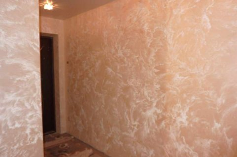 Фактурная краска для стен