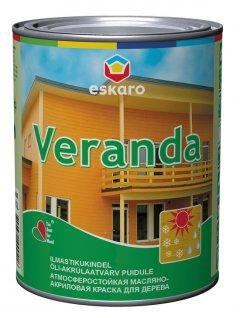 Фарба олійно-акрилова для деревини Eskaro Veranda база TR 0,95л