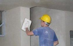 шліфування стін при оштукатурюванні