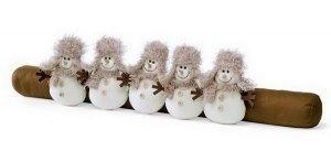 валик-іграшка від протягів сніговики
