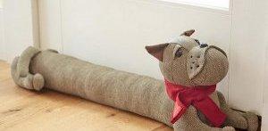 валик під двері від протягів у вигляді собаки