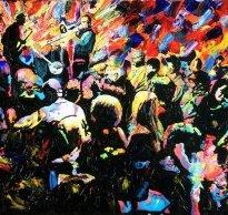 Яскраві і динамічні полотна Джона Брамблітта (John Bramblitt)
